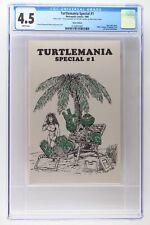Turtlemania Special #1 - Metropolis 1986 - CGC 4.5 - Silver Edition - Signed!