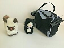 American Girl doll 2 cats pet carrier Poseable Himalayan Siamese Licorice Tuxedo