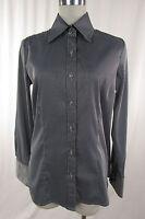 S. OLIVER Damenbluse Bluse, Hemdbluse Baumwolle grau - schwarz gestreift Gr. 38