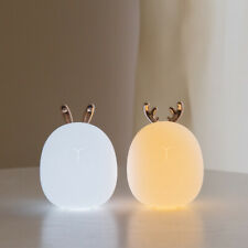 Cute Rabbit Deer LED Lamp Wireless Touch Sensor Silicone Bedside Decoration
