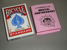 Mental Photography Deck Magic trick -  red - Daryl instructions - New