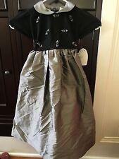 NWT *Hartstrings* Black/Gray Knit & Silk Dress - Size 5