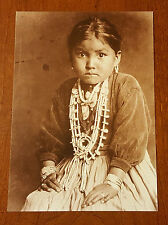 Navajo Indian Child Silversmith's Daughter New Mexico Historical Photo Postcard