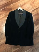 RALPH LAUREN Velvet Cotton Grosgrain SHAWL SMOKING JACKET -- Size 41 R