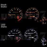 Dash Speedometer Cluster Gauge WHITE LED LIGHT KIT Fit 93-97 Honda Civic Del Sol
