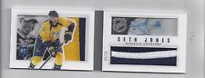 SETH JONES RARE PANII 2013-14 PLAYBOOK JERSEY, PATCH, AUTOGRAPHED ROOKIE CARD