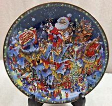 "A Pepsi-Cola Christmas Plate by Bill Bell 8"" Franklin Mint"