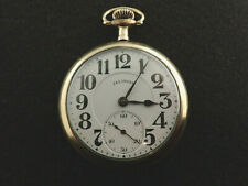 VINTAGE 16 SIZE ILLINOIS BUNN SPECIAL POCKET WATCH FROM 1919 MODEL 9