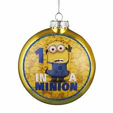 Kurt Adler 1 in a Minion Ornament with Decal, 80mm, New, Free Shipping