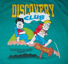 DISCOVERY CLUB  BIBLE VERSE BOY OR GIRLS SIZE 10-12 GREEN SHIRT SHORT SLEEVE