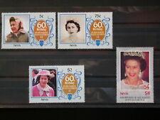 NEVIS '1986 * MH 365/368 YT 8,50 EUR DINASTY,QUEEN ELIZABETH II,DYNASTIE