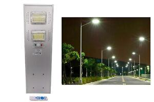 Lampione solare led 100w luce fredda bianca faro stradale industriale 19100