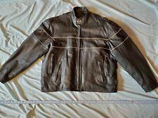 Hudson Leather men's Motorcycle Jacket Size 52