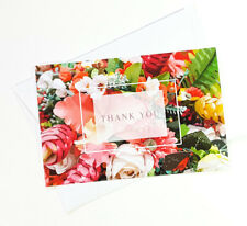 15 Thank You Cards Notes Flower Wedding Business Birthday Thankful For THANK25