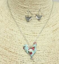 Silver and Multi Colored Rooster FASHION Necklace Set