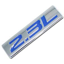 CHROME/BLUE METAL 2.3L ENGINE RACE MOTOR SWAP EMBLEM BADGE FOR TRUNK HOOD DOOR
