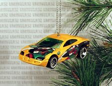DODGE CHARGER R/T YELLOW CHRISTMAS ORNAMENT XMAS