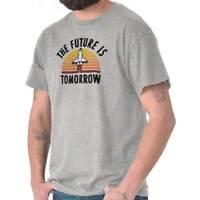The Future Tomorrow Funny Space Astronaut Short Sleeve T-Shirt Tees Tshirts