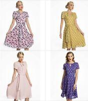 Lindy Bop  Bretta Rockabilly Swing Day Tea Dress 14-22