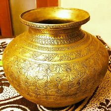 Antique Old Brass Hand Carved Fine Engraved Bird Figure Beautiful Holy Water Pot