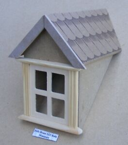 1:12 Scale Wooden Dormer Window 45 Degree Tumdee Dolls House Accessory 628