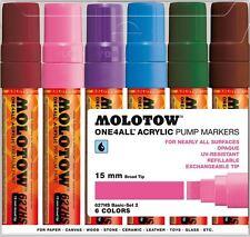 Molotow uno 4 todos 627 - 6 Piezas marcador Pluma Set-Base Set 2