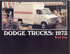 1973 Dodge Kary Van Sales Brochure