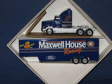 WINROSS 1/64 JUNIOR JOHNSON MAXWELL HOUSE RACE TEAM TRACTOR AND TRAILER *