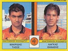 N°382 PLAYERS KOLINDROS GREECE PANINI GREEK LEAGUE FOOT 95 STICKER 1995