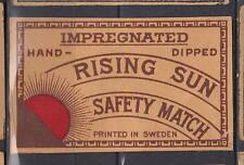 Ancienne  étiquette  allumettes Suède  AZ2225 Rising Sun Soleil
