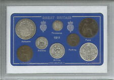More details for 1911 gb great british vintage antique coin set (110th birthday gift birth year)
