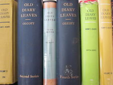 """Old Diary Leaves"" Theosophical Society Complete set 6 Henry Olcott SIGNED COPY"