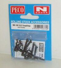 Peco N. NR-102 ELSIE (ELC) Couplings x 4. (N)  Railway Model