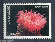 MONACO 1980, timbre 1262, POISSONS, ACTINIA EQUINA, FAUNE, MER, neuf**
