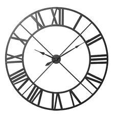 Extra Large 122cm Black Metal Iron Roman Numeral Clock High Quality