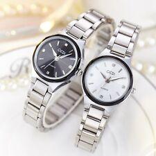 Waterproof Stylish Stainless Steel Black White Crystal Women's Quartz Watches