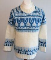 HERREN Island Norweger STRICK Pullover  Ca Gr 50 WOLLE SCHURWOLLE