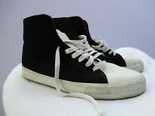 Supra Vaider Men's Black White Canvas High Top Lace Up Sneakers Shoes Size 10M
