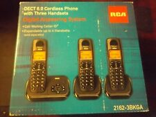 Rca 2162-3BKGA 3-Handset Dect 6.0 Cordless Answering System $82.29