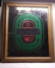 "Vintage Rare 90S Heineken Beer ""Heineken Logo"" Mirror Sign"