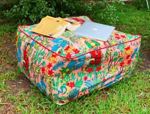 Fabric Ottoman Foot Stool Rest Pouffe Footstool Yoga Meditation Frida Kahlo
