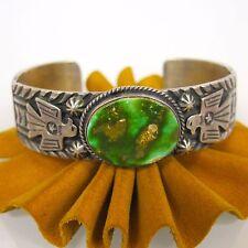 Gary Reeves American Indian Navajo Sterling Turquoise Bracelet