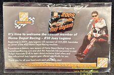 LMH PINBACK Pin 2009 NASCAR Winston Racing 20 JOEY LOGANO Home Depot Rookie Year