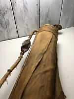 Dry Coconut Bamboo Golf Clubs, Palm tree skin golf Bag Three Woods Hawaii Made