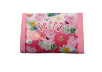 Christmas Peppa Pig Wallet - Xmas George Glitter Hooked/Zipped Foldover Purse