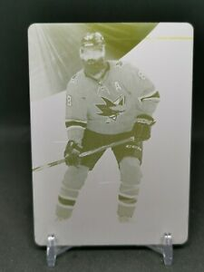 2019-20 SP Game Used Printing Plates Yellow #33 Brent Burns 1/1