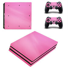 Sony PS4 Pro Console and Controller Skins / Decal -- Pink (P-0145)
