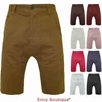 NEW MENS COTTON SUMMER DROP CROTCH CHINO SHORTS JEANS SIZE 28 30 32 34 36