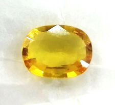AAA+ Finest quality 3.90cts certified Natural yellow sapphire clean transparent