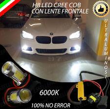 COPPIA LAMPADE FENDINEBBIA H8 LED CREE COB CANBUS BMW SERIE 5 F10 NO ERRORE